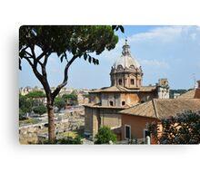 Forum Roman in Roma Italy Canvas Print