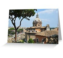 Forum Roman in Roma Italy Greeting Card