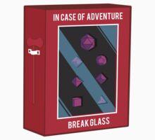 In Case of Adventure Break Glass - Purple Dice Kids Tee