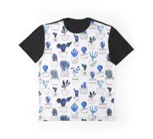 Blue cacti Graphic T-Shirt