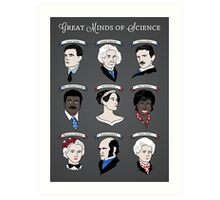 Great Minds of Science {Set} Art Print