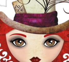 Lady Hatter Sticker