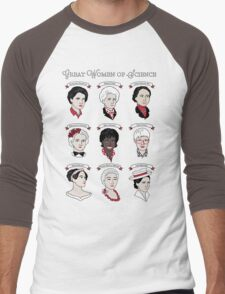 Great Women of Science {Set} Men's Baseball ¾ T-Shirt