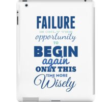 Failure! Vintage Typography Inspirational Design iPad Case/Skin