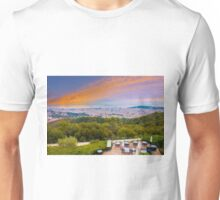 Barcelona Skyline, the view from Hotel La Florida, Tibidabo, SPAIN Unisex T-Shirt