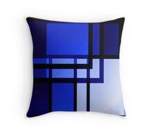 Batiment de Reflexion Bleu Throw Pillow