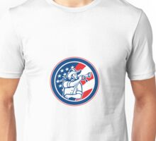 American Cavalry Soldier Blowing Bugle Circle Unisex T-Shirt