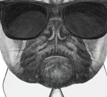 French Bulldog In Black Sticker