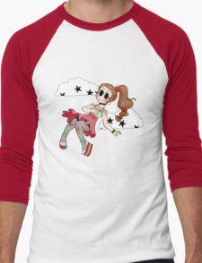 Chibi Fashion Girl #17 Men's Baseball ¾ T-Shirt