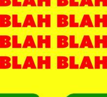 Blah Word bubble Sticker