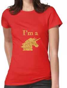 I'm a Unicorn Head in Photo in Gold Womens Fitted T-Shirt