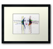 'Futility' Watercolour Portrait Illustration Framed Print