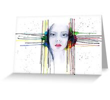 'Futility' Watercolour Portrait Illustration Greeting Card