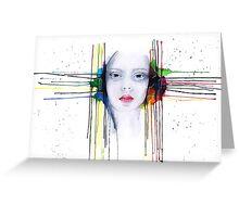 'Futility' Watercolour Portrait Illustration Greeting Card
