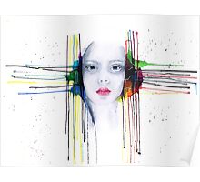 'Futility' Watercolour Portrait Illustration Poster