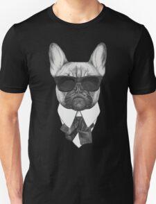 French Bulldog In Black Unisex T-Shirt