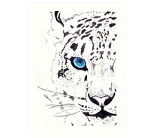 Snow Tiger Animal Illustration Painting Art Print