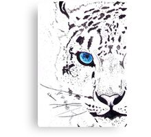 Snow Tiger Animal Illustration Painting Canvas Print