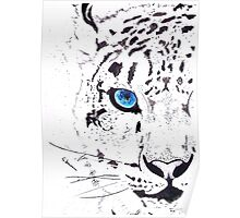 Snow Tiger Animal Illustration Painting Poster