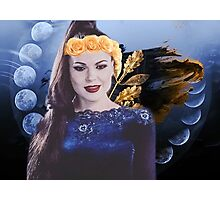 Evil Queen- blue and gold  Photographic Print