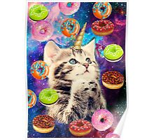 donut cat Poster