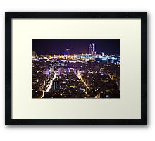 Bacelona by Night Framed Print