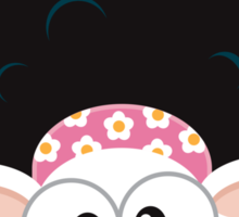 Afro Cow Sticker