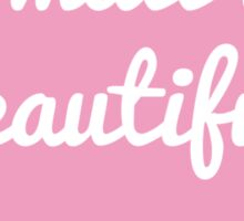 Small is beautiful text design in speech bubble for new baby Sticker