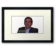 michael scott bacon quote  Framed Print