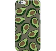 Avocado - Grey iPhone Case/Skin
