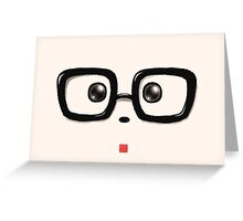 Geek Chic Panda Eyes Greeting Card