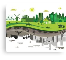 Eco vs Polluted Canvas Print