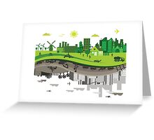 Eco vs Polluted Greeting Card