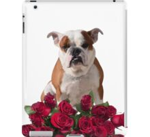 Boxer Dog with Red Roses iPad Case/Skin