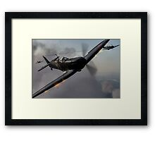 """Guns Blazing"" - Fantastic Digitial Painting of Spitfires in Battle / Spitfire WW2 Framed Print"