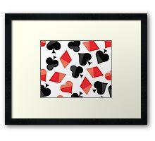 Poker sign Framed Print