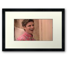 michael cera forced laughing  Framed Print