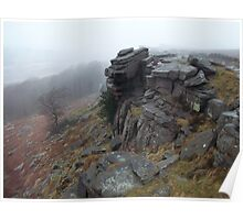 Stanage Edge, January Drizzle Poster