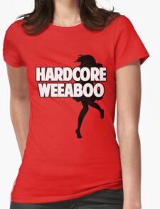 Hardcore Weeaboo (black silhouette) Womens Fitted T-Shirt