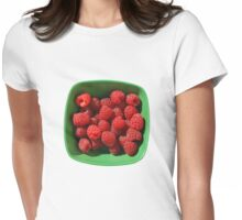 Raspberries in Green Bowl  Womens Fitted T-Shirt