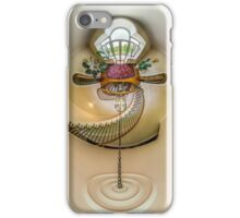 House interior in little planet view style, space distortion iPhone Case/Skin