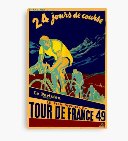 TOUR DE FRANCE; Vintage Bicycle Race Advertisment Canvas Print