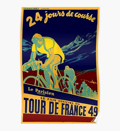 TOUR DE FRANCE; Vintage Bicycle Race Advertisment Poster