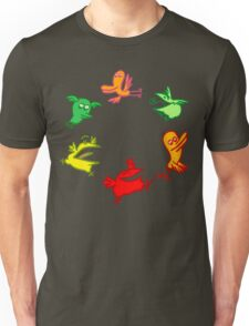 We Are The Birdies!! Cartoon Birds by Cheerful Madness!! Unisex T-Shirt
