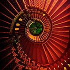 Spiral stairs in brown and green by JBlaminsky