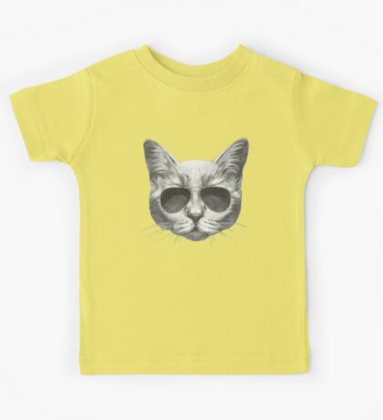 Cat with sunglasses Kids Tee
