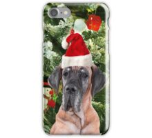 Great Dane w Christmas Tree Gift Boxes Santa Hat iPhone Case/Skin