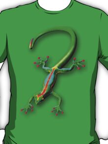 Gecko Lizard Rainbow Colors T-Shirt