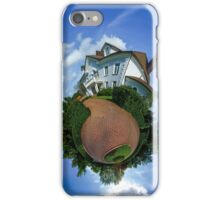 Little planet view of the beautiful house, distortion of space iPhone Case/Skin