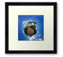 Little planet view of the beautiful house, distortion of space Framed Print